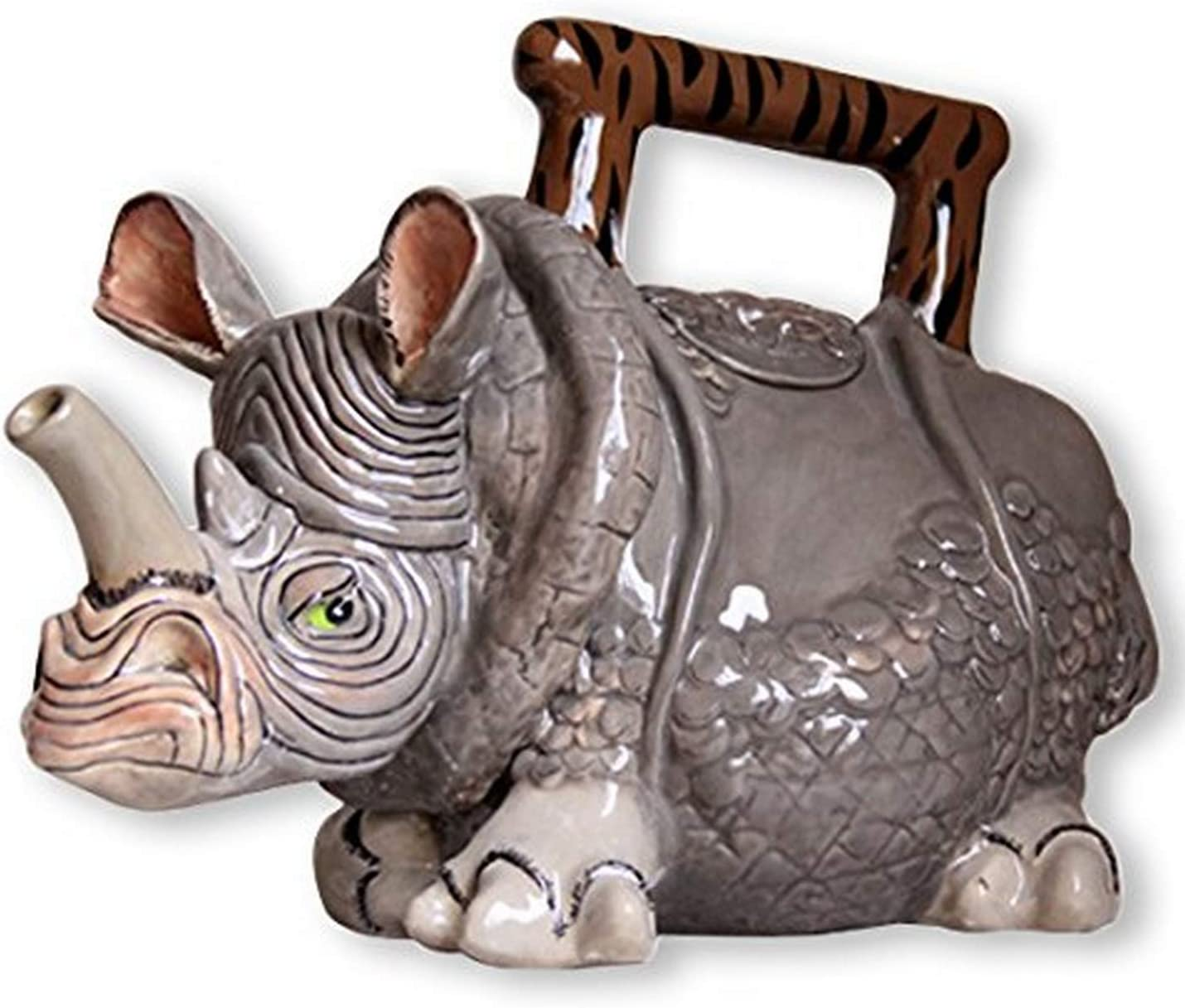 Blue Sky Ceramic Rhino Teapot, 9.5 x 5.5 x 7