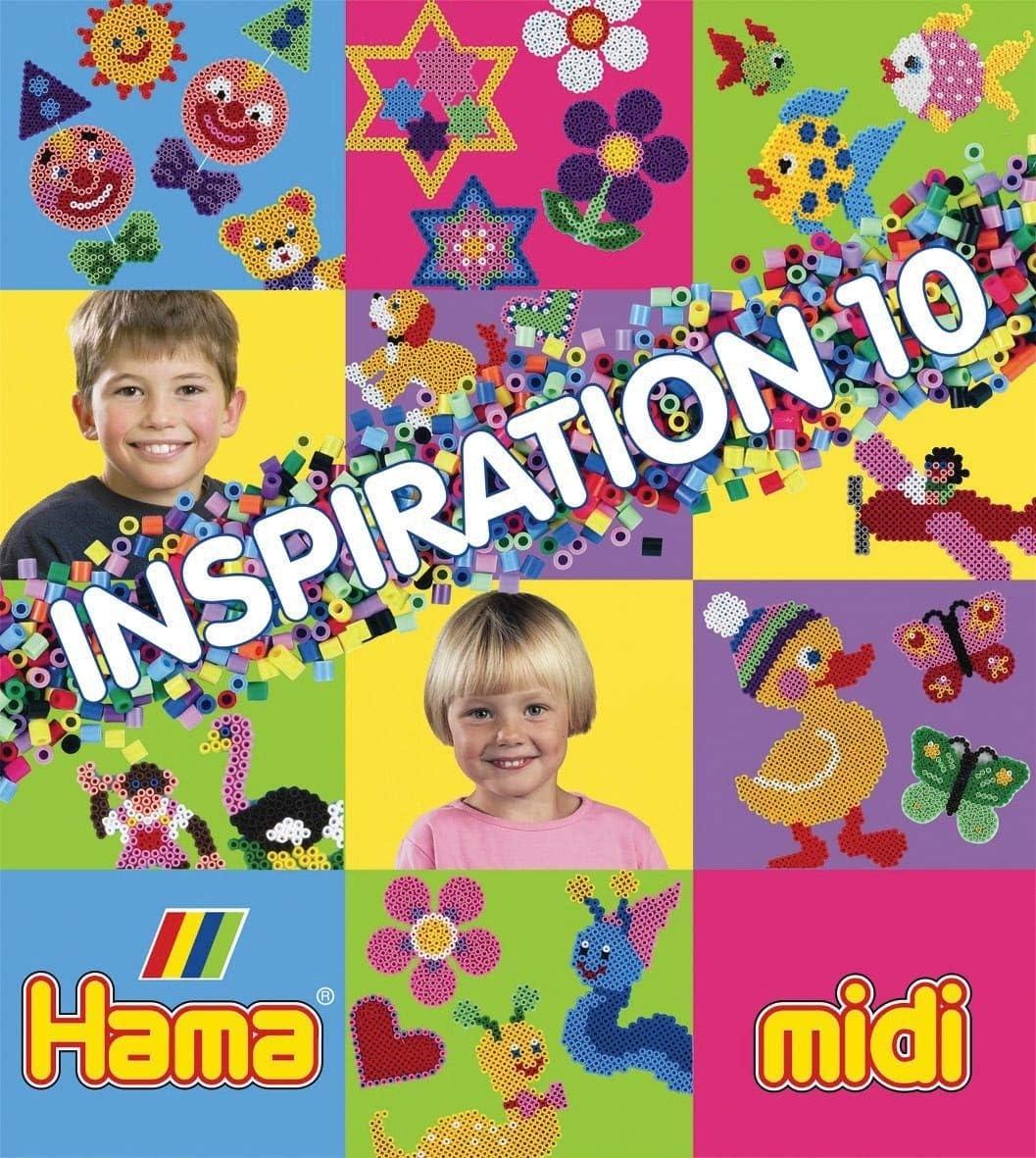 HAMA midi 399-10 Bügelperlen INSPIRATION 10 Vorlagen-Heft mit Ideen