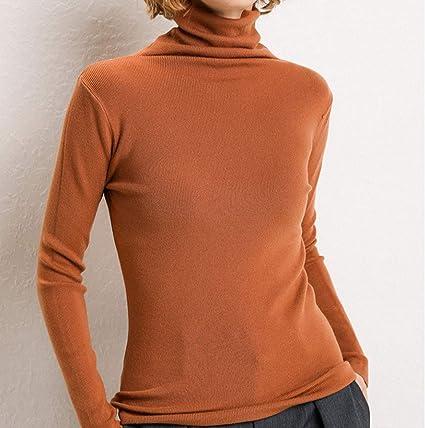 Suéter De Mujer Blusas De Mujer De Cuello Alto Camisa De Moda ...