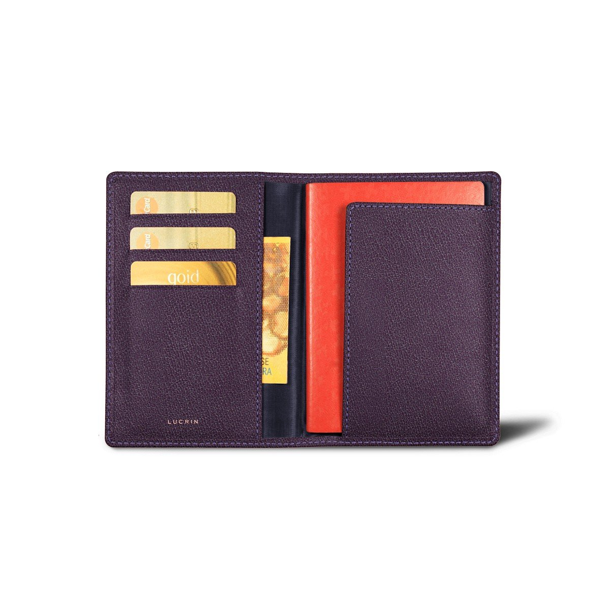 Lucrin - Passport and Loyalty Card Holder - Purple - Goat Leather