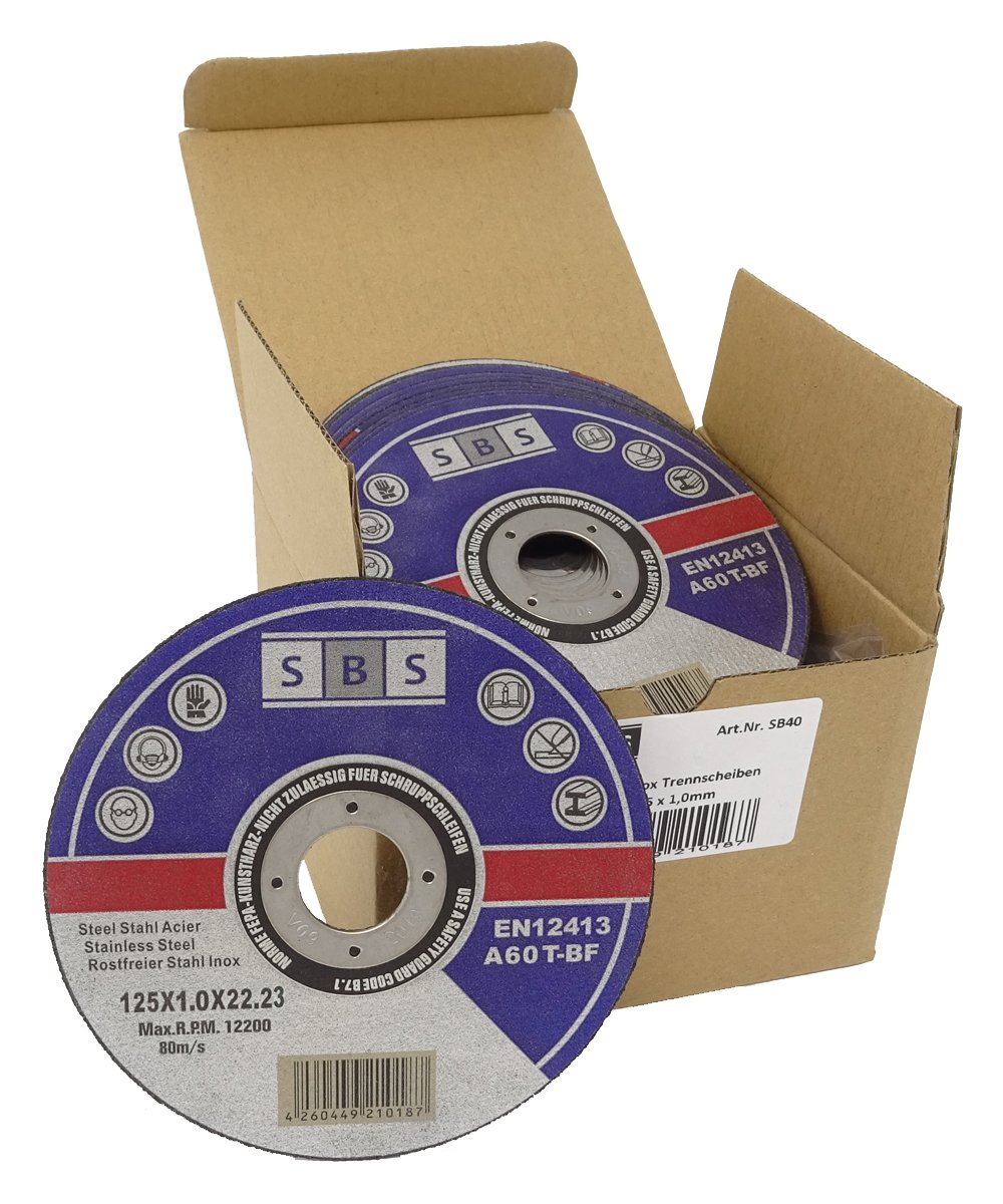 10 St/ück SBS Trennscheiben 125 x 1,0mm INOX Flexscheibe