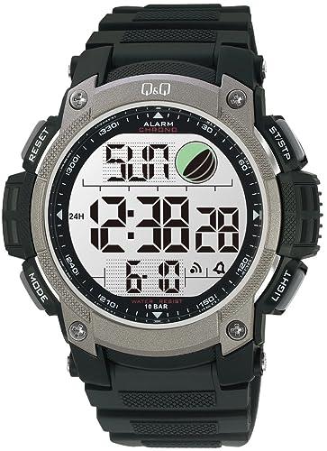 Q&Q MONTREUX M119J002Y - Reloj cronógrafo de Cuarzo para Hombre, Correa de plástico Color Negro