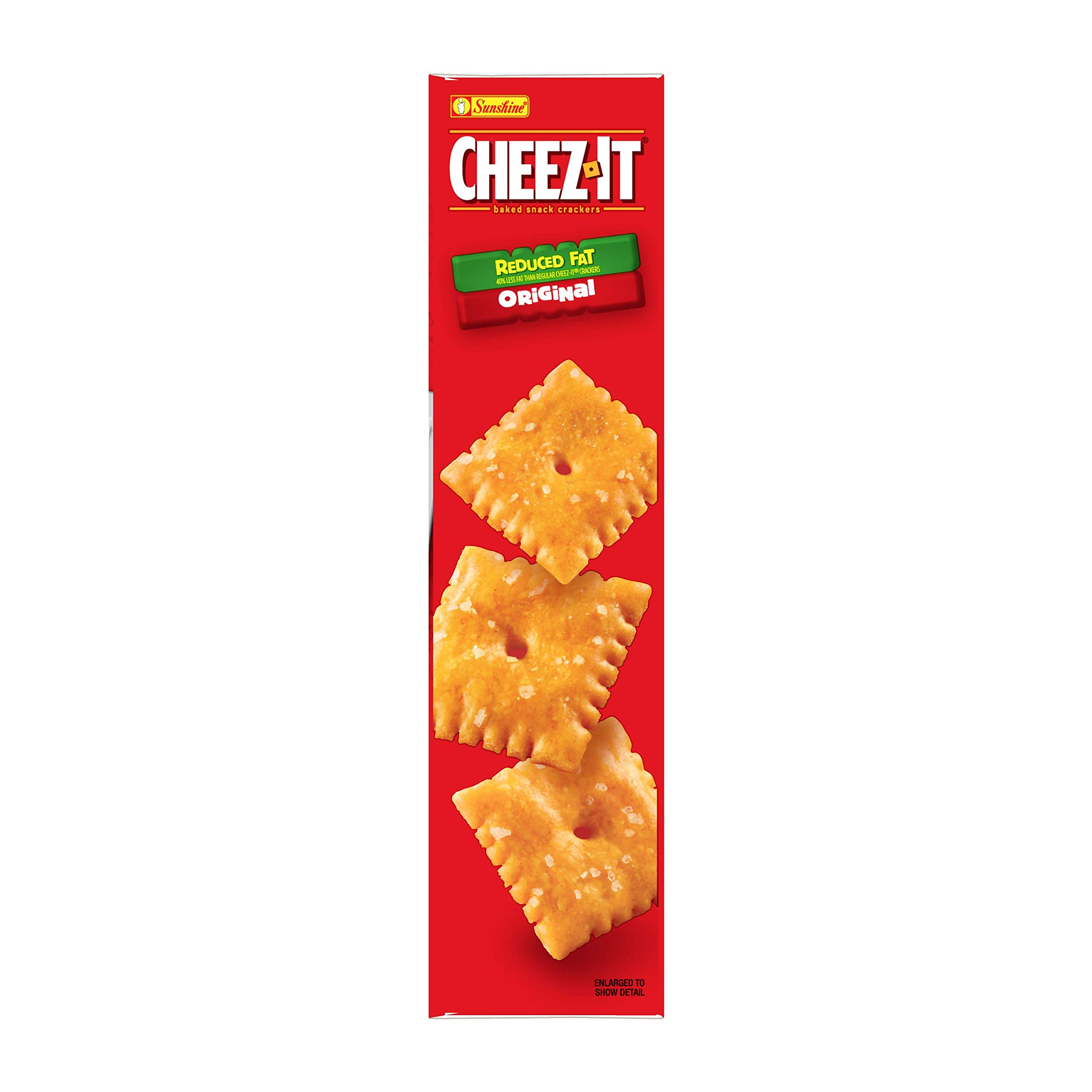 Cheez-It Baked Snack Cheese Crackers, Reduced Fat, Original, 6 oz Box(Pack of 12) by Cheez-It (Image #6)
