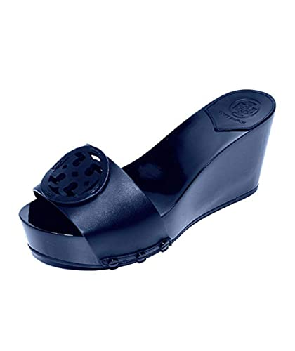 569131e8019 Image Unavailable. Image not available for. Color  Tory Burch Miller 80MM  Platform Wedge Slides Sandals (9.5)