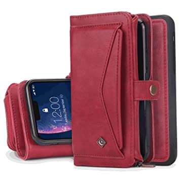 iPhone Xs Max Flip Case Cover for Leather Kickstand Mobile Phone Cover Card Holders Luxury Business Flip Cover