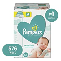2-Pack Pampers Sensitive Water Baby Diaper Wipes 576-Ct Deals
