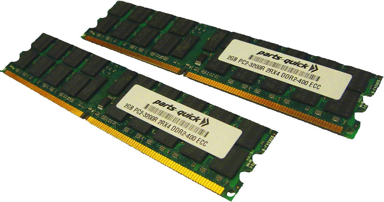 Server RAM 8GB 4x 2GB PC2-3200R 2Rx4 ECC Registered DDR2 400MHz 240-pin Memory