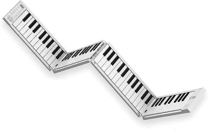 Black Star Piano plegable portátil de Blackstar, Piano portátil de 88 teclas con batería recargable por USB integrada y MIDI sobre USB. Teclado de ...