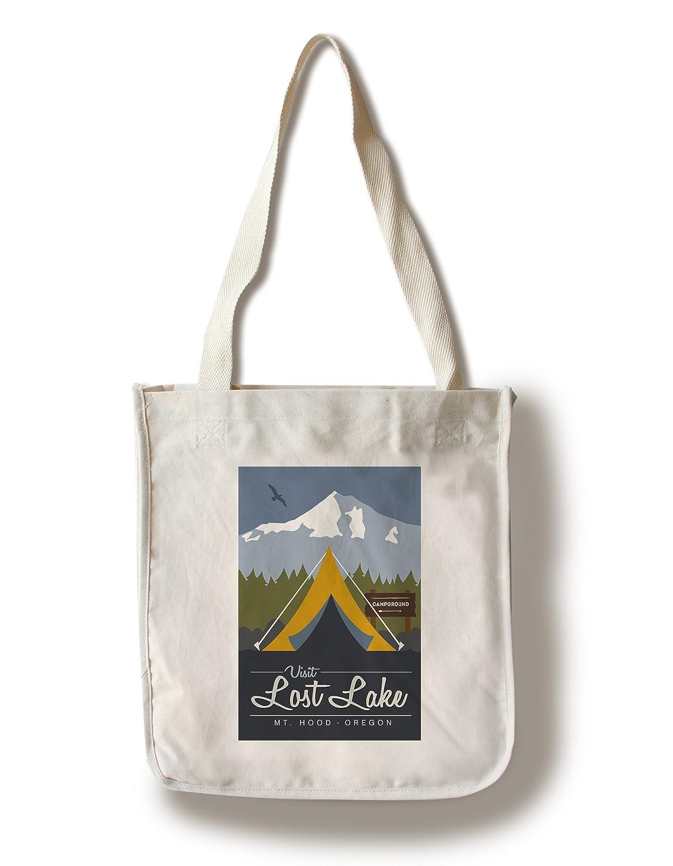 【在庫処分】 Visit Lost Lake , Oregon Lake – Mt Bag。フード – – Off The Grid (テント) Canvas Tote Bag LANT-80194-TT B06XZF9MC6 Canvas Tote Bag, マクロビオティック シードリーフ:7ea552f3 --- mcrisartesanato.com.br
