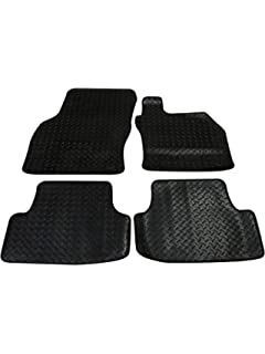 Seat Leon 2013 Present Black Exclusive Car Mats With Red Trim