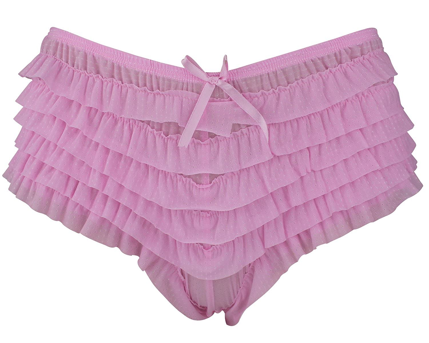 no sale tax best selection of closer at LADIES FRILLY HOT PANTS KNICKERS SHORTS BURLESQUE BRIEFS PANTIE (UK 14,  BABY PINK)