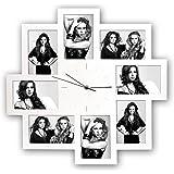 Zep S.r.l PC008W Horloge Murale avec 8 Photos Blanc 10 x 15 cm