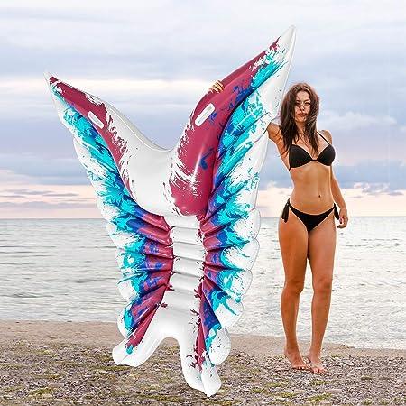 Amazon.com: Xiangtat Flotador hinchable de piscina, alas de ...
