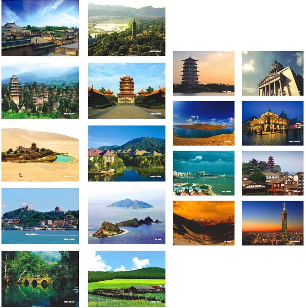 World A 34 Pcs Retro World Scenic Cartes postales Voyage Cartes postales Cartes de voeux