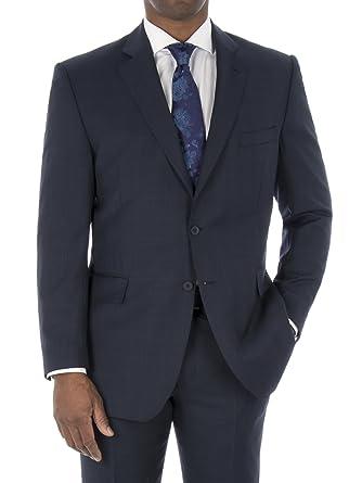7d93562ac Suit Direct British Tailor Big+Tall Blue Check Regular Fit Suit Jacket -  0047159 Regular