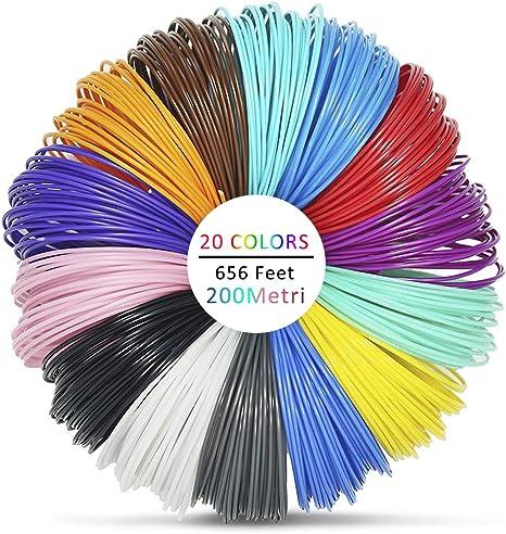 Pluma 3D Filamento ABS – VICTORSTAR 20 Colores, 32.5 pies (10 ...