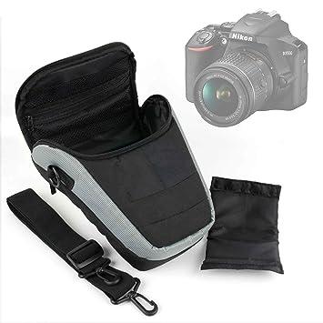 DURAGADGET Bandolera Negra Y Gris para Cámara Nikon D3500: Amazon ...