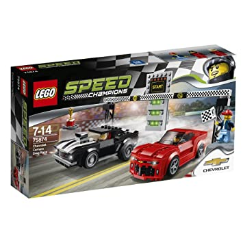 Amazon.com: LEGO Speed Champions Chevrolet Camaro Drag Race 75874 ...