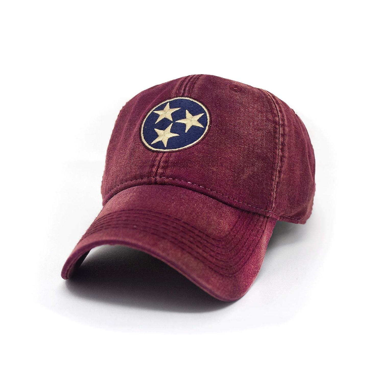 e5d169852 Tennessee Flag Tri-Star Hat, Brick Red