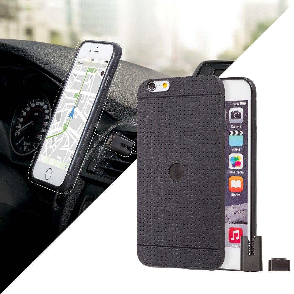 Funda para iPhone 6 y iphone 6s - Negra con...