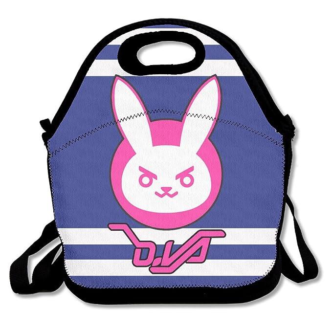 nnhaha Overwatch D. Va conejo Logo bolsa para el almuerzo Tote bolso almuerzo cajas: Amazon.es: Hogar