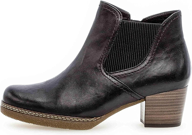 Gabor Damen Chelsea Boots 96.661,Frauen Stiefel,Halbstiefel,Stiefelette,Bootie,Schlupfstiefel,hoch,Blockabsatz 3.5cm,Einlegesohle,G Weite (Normal) Ocean S N Micro