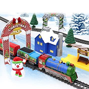 Christmas Train Set.Zzm Electric Train Set For Kids Holiday Christmas Train Set