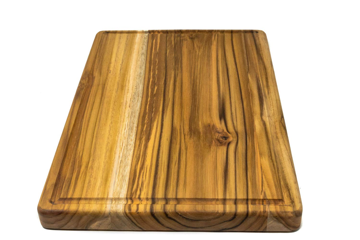 Large Reversible Teak Wood Cutting Board with Juice Groove - Hardwood Chopping Block and Serving Tray (17x11x1 Inches) by Do it wiser (Image #3)
