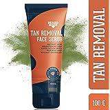 Beardhood Tan Removal Face Scrub with Moringa, Walnut Granules & Almond Oil, SLS & Paraben Free, 100g