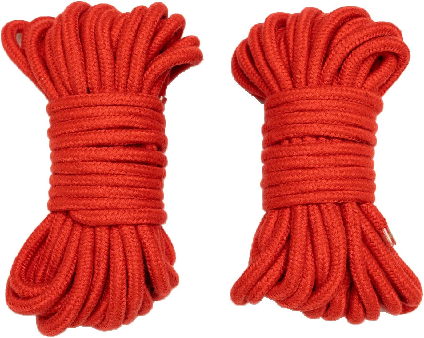 Soft Cotton Rope 32 feet//10m 8mm 1//3 inch 2 Pack of Purple Diameter Twisted Braided Multi-Function Natural Utility Durable Long