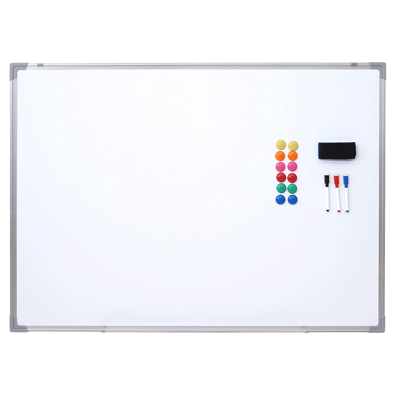 Mendler Lavagna Magnetica Bianca memoryboard HWC-C84 con Accessori ~ 110x80cm