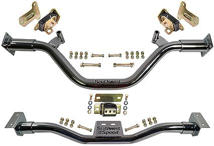 Amazon.com: NEW CHROME TUBULAR ENGINE & TRANSMISSION CROSSMEMBERS W ...