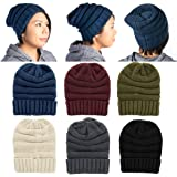 8be2fb7b DG Hill Winter Hat for Women Slouchy Beanie Hat Chunky Knit Stocking Cap  Soft Warm Cute