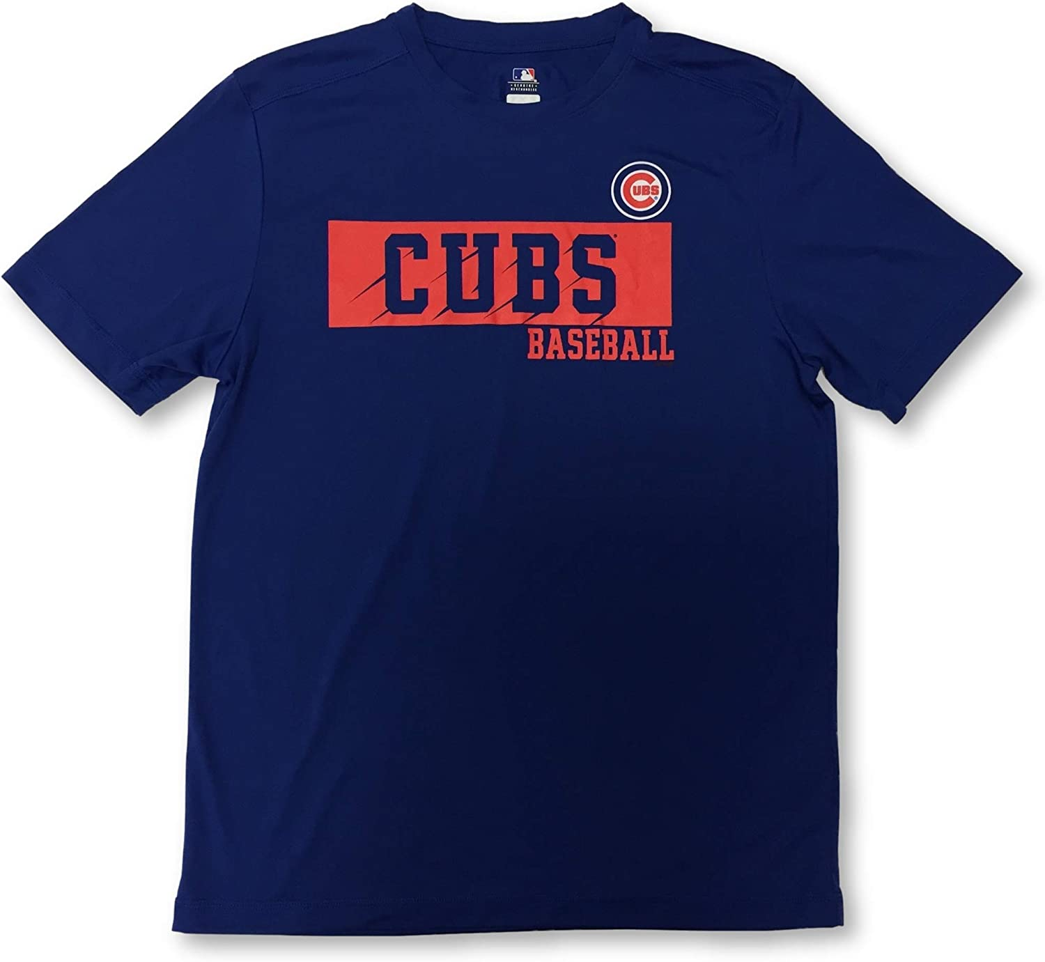 Majestic Chicago Cubs Adult Mens Crew Neck T-Shirt
