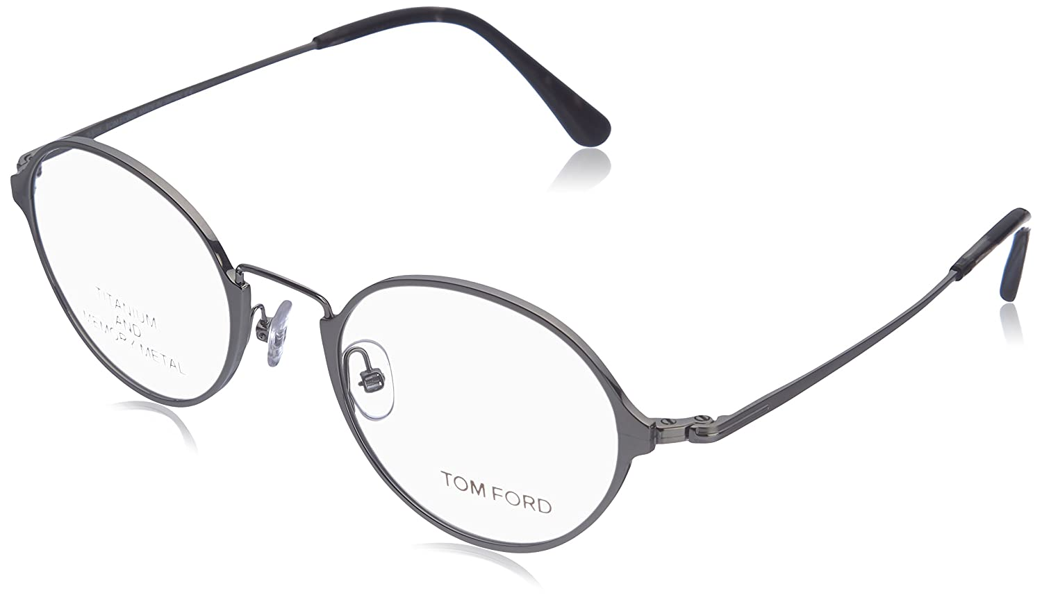 570d16629b Tom Ford Round Eyeglasses TF5350 014 Size  48mm Ruthenium Black FT5350 at  Amazon Men s Clothing store
