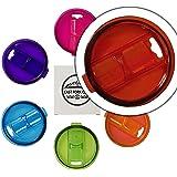 Yeti Rambler,RTIC 水杯,Ozark Trail 30 盎司 防溅滑动闭合彩色替换盖 - 吸管 红色 30 oz. RED30LID