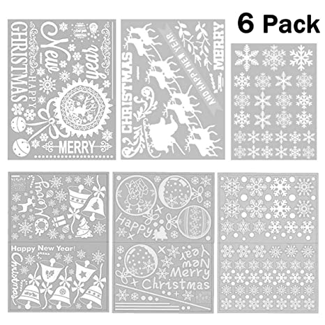 Maikehigh 250 Christmas Snowflake Window Clings Adesivi Murali