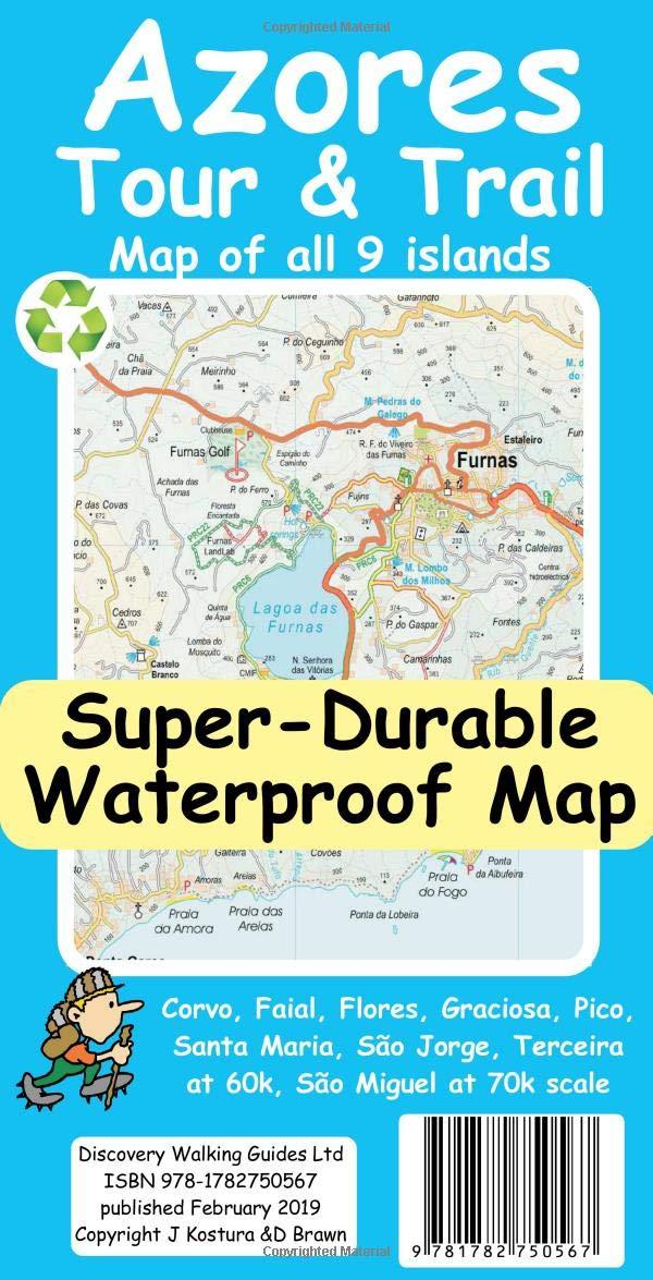 Azores Tour Trail Super Durable Map Amazon Es Kostura Jan