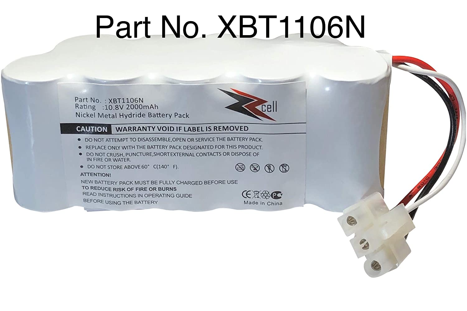 ZZcell Battery For Euro Pro Shark XBT1106N Navigator Freestyle SV116N, SV1106N Original Part Number XBT1106N (Please check)