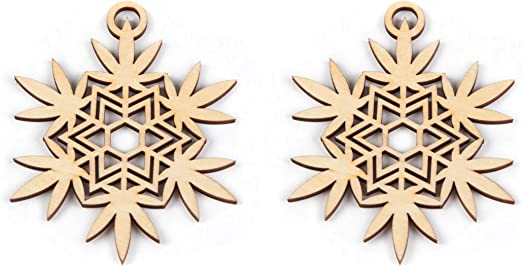 amazon com marijuana leaf snowflake ornaments pack of 2 weed themed christmas decorations or rear view mirror charms by southside plants kitchen dining marijuana leaf snowflake ornaments pack of 2 weed themed christmas decorations or rear view mirror charms by southside plants