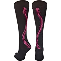 674f97607df2 MadSportsStuff Softball Socks with Stitches Over The Calf (Multiple Colors)