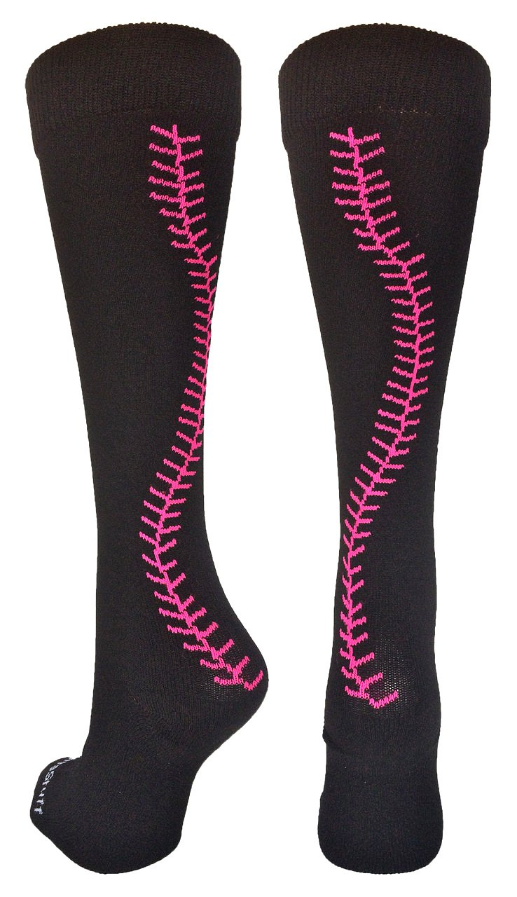 MadSportsStuff Softball Socks Stitches Over The Calf (Multiple Colors)