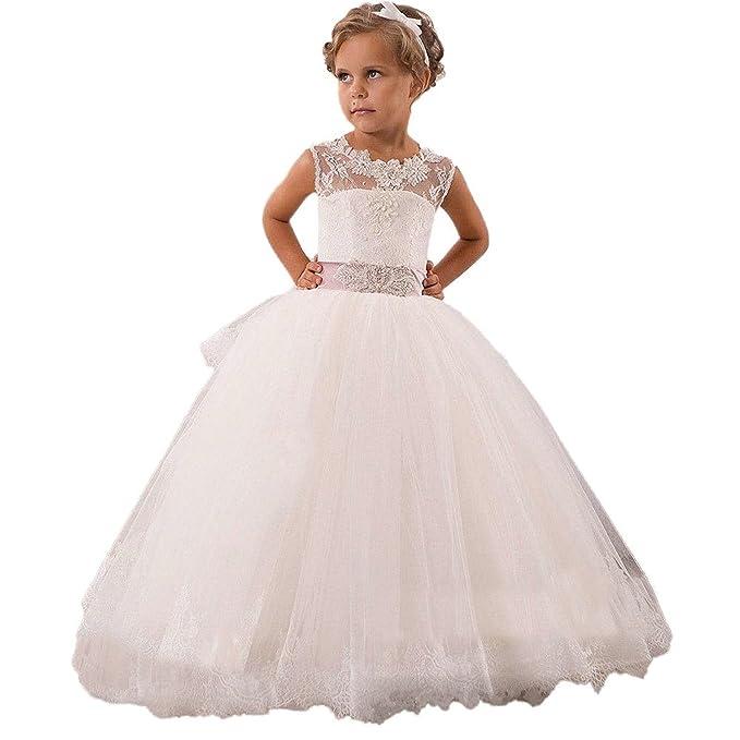 reputable site d0c8d 0cace KekeHouse® Abito Damigella Bambina Pizzo Vestito Formale da ...