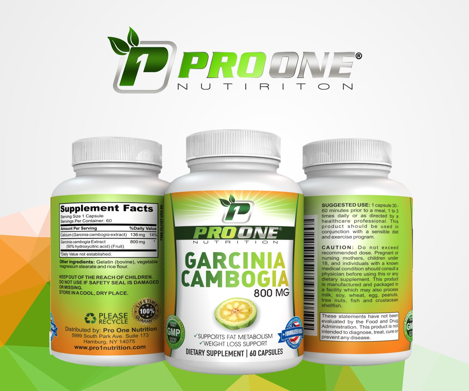 Pure Garcinia Cambogia 800MG by ProOne Nutrition. Add Garcinia to lose weight quickly and fast to diet, Increase Energy, improve Cholesterol, Stabilize Blood Sugar Levels and have a More Positive Mood by Pro One Nutrition
