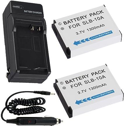 Batería (2-Pack) + cargador para Samsung PL50, PL51 Cámara Digital ...