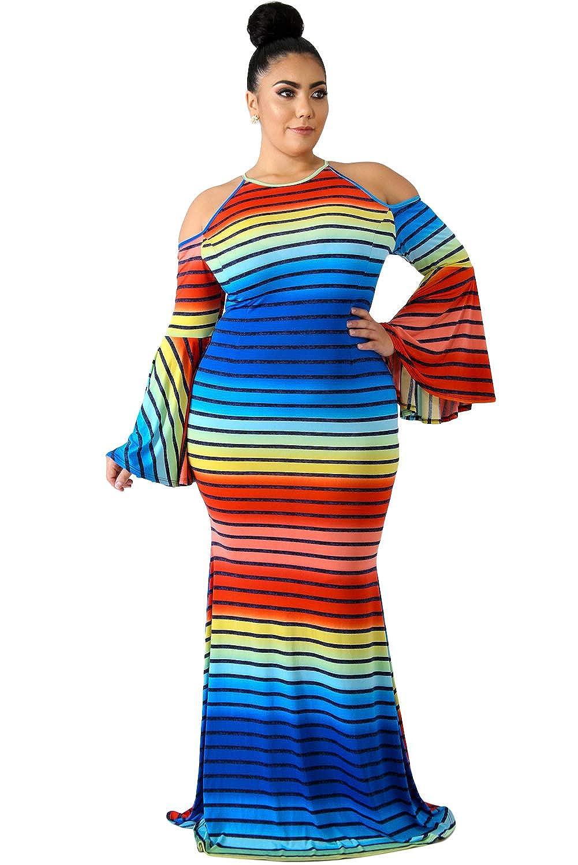 15d7c949ec Rainbow Fashion Plus Size Dresses