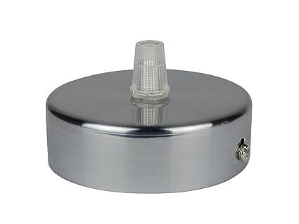 Florón cepillado | embellecedor para lámpara de techo, suspensor estándar tamaño m10, 80x25 mm
