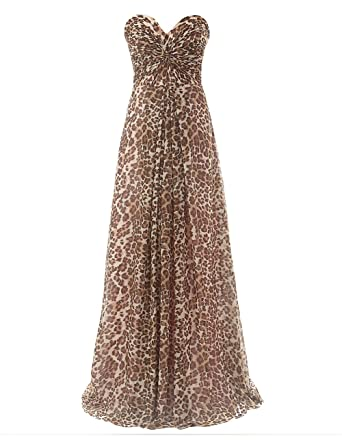 Leopard Long Prom Dresses with Straps