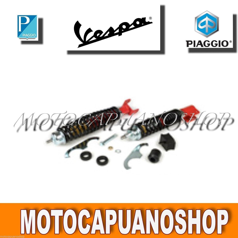 AMMORTIZZATORE ANTERIORE POSTERIORE REGOLABILE ROSSO VESPA 125 150 200 PX MotoCapuano 351521472653