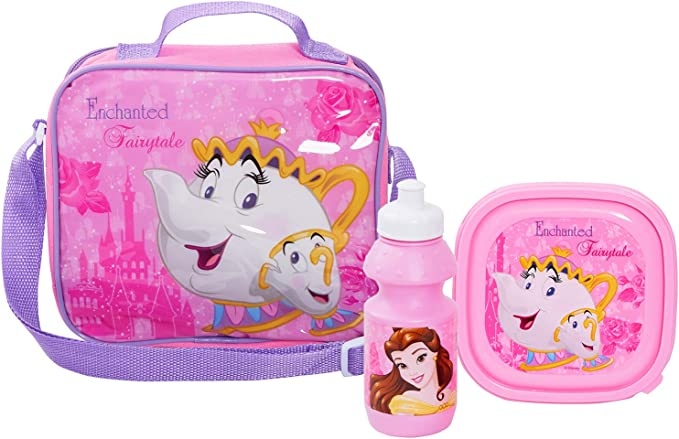 dise/ño de la Bella y la Bestia Disney Beauty And The Beast Bolsa para el almuerzo